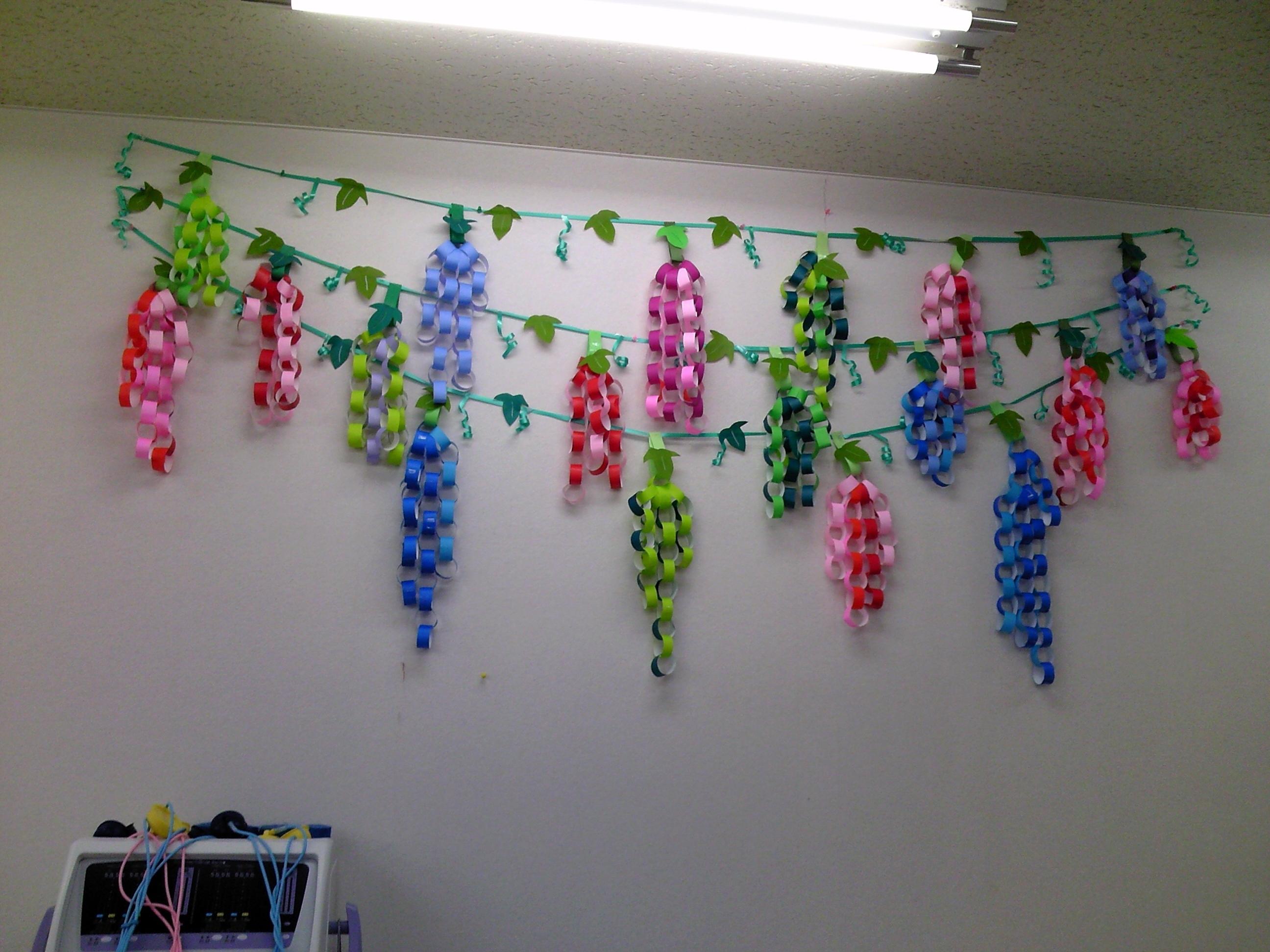 みんなの作った壁紙工作できた ... : 七夕の飾り : 七夕